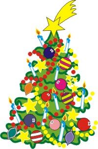 Weihnachtsstern Für Tannenbaum.Weihnachtsbaum Und Weihnachtsstern